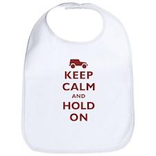 Keep Calm and Hold On Bib