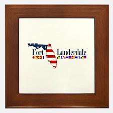 Fort Lauderdale - Map Design. Framed Tile