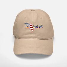 Fort Lauderdale - Map Design. Baseball Baseball Cap