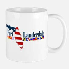 Fort Lauderdale - Map Design. Mug