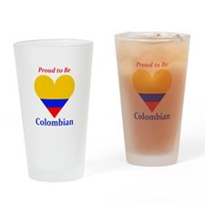 Proud to be Colombian Drinking Glass