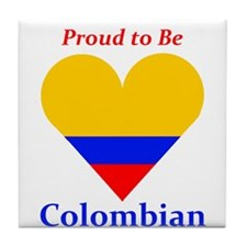 Proud to be Colombian Tile Coaster
