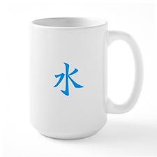 Water Kanji Blue Mug
