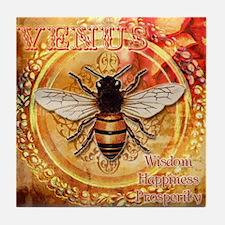 Venus Bee Tile Coaster