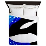 Orca whale Luxe Full/Queen Duvet Cover
