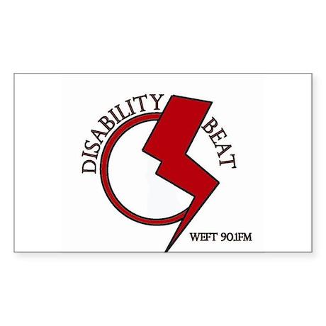 Disability Beat Radio Sticker