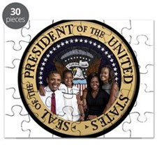 Obama First Family T SHirt Puzzle