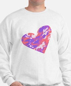 camo heart Sweatshirt