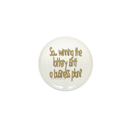 Winning the lottery Mini Button (10 pack)