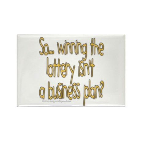 Winning the lottery Rectangle Magnet (10 pack)