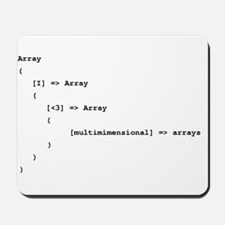 Multidimensional Arrays Mousepad