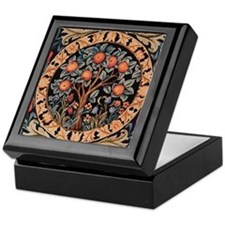 Orange Tree of Life Keepsake Box