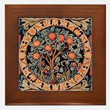 Orange Tree of Life Framed Tile