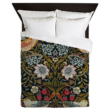 William Morris Strawberry Thief Queen Duvet By Fineartdesigns