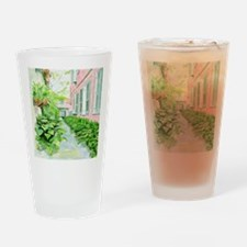 New Orleans Courtyard Drinking Glass