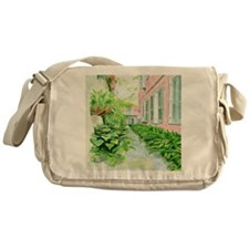 New Orleans Courtyard Messenger Bag