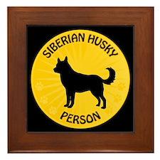 Siberian Husky Person Framed Tile