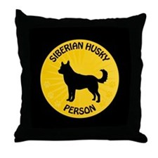 Siberian Husky Person Throw Pillow