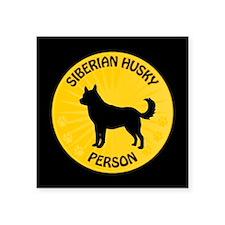"""Siberian Husky Person Square Sticker 3"""" x 3"""""""