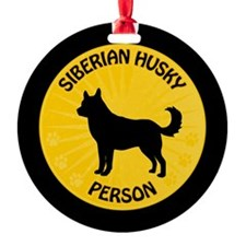 Siberian Husky Person Ornament