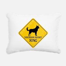 Husky Xing Rectangular Canvas Pillow