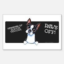 Boston Terrier Paws Off Decal