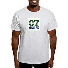 Year of The Pig 2007 Ash Grey T-Shirt