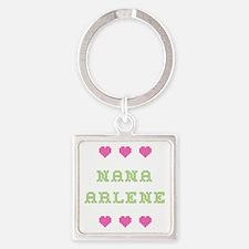 Nana Arlene Square Keychain