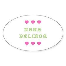 Nana Belinda Oval Decal