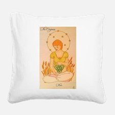 The Empress Square Canvas Pillow