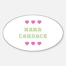 Nana Candace Oval Decal