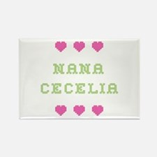 Nana Cecelia Rectangle Magnet