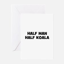 Half Man~Half Koala Greeting Cards (Pk of 10)