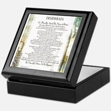 Desiderata La Piazza Keepsake Box