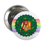"Rainbow Wreath 2.25"" Button"