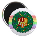 "Rainbow Wreath 2.25"" Magnet (10 pack)"