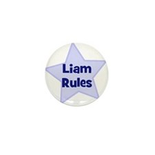 Liam Rules Mini Button (10 pack)
