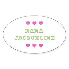 Nana Jacqueline Oval Decal