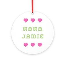 Nana Jamie Round Ornament