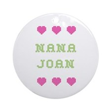 Nana Joan Round Ornament