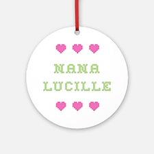 Nana Lucille Round Ornament