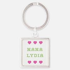Nana Lydia Square Keychain