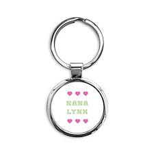 Nana Lynn Round Keychain