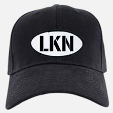"""LKN"" on Oval Patch on Baseball Hat"