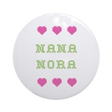Nana Nora Round Ornament