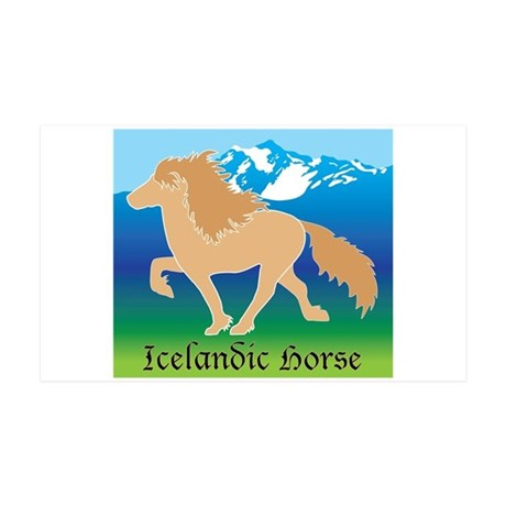 Dun Icelandic horse tolting in Iceland Wall Decal