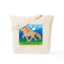 Dun Icelandic horse tolting in Iceland Tote Bag