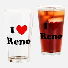 I Love Reno Drinking Glass