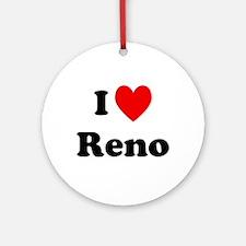 I Love Reno Ornament (Round)