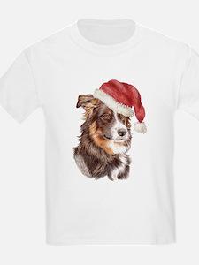 Christmas Border Collie Kids T-Shirt